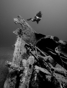The remainings of the &quot;Sakkaria&quot; shipwreck in Kalkan/Turk... by Rico Besserdich 